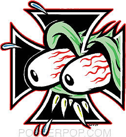 Kozik Eyes Cross Sticker Image