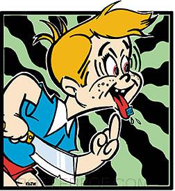 Kozik Acid Kid Sticker Image