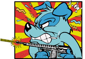 Kozik Mad Dog Sticker Image