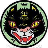 Kozik Cult Cat Sticker Image