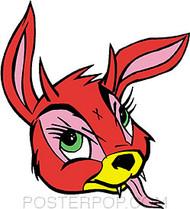 Kozik Bunny Evil Sticker Image
