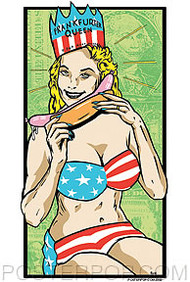 Kozik Frankfurter Queen Sticker Image