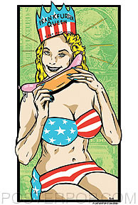 Kozik Frankfurter Queen Sticker Image