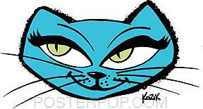 Kozik Snazz Cat Sticker Image