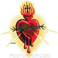 Almera Electric Heart Sticker Image
