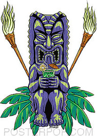 Almera Drinkin Tiki Sticker Image