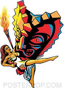 Almera Freaky Tiki Sticker Image