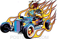 Almera Hot Roadster Sticker Image