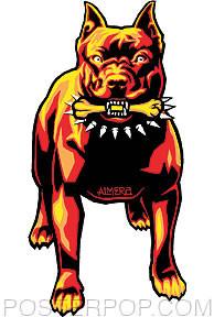 Almera Pitbull Sticker Image