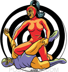 Almera She Wrestler Sticker Image