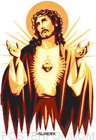 Almera Jesus Gold Sticker Image