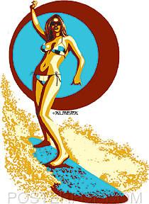Almera Surfer Girl Sticker Image