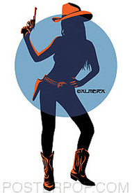 Almera Cowgirl Sticker Image