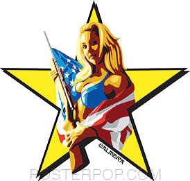 Almera Miss America Sticker Image