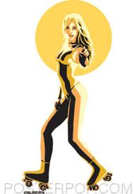 Almera Roller Girl Sticker Image