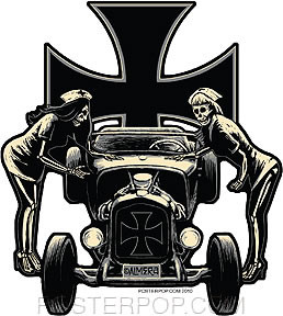 Almera Psychobilly Sticker Image