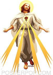 Almera Jesus Light Sticker Image