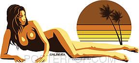 Almera California Sunset Sticker Image