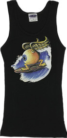 Von Franco Surfing Eyeball Woman's Ribbed Boy Beater Tank Image