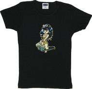 Vince Ray Bongo Girl Woman's Baby Doll T-Shirt