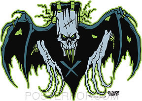 Pigors Frankenclaw Bat Sticker Image