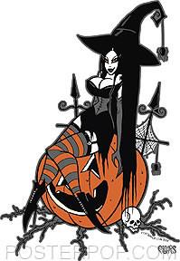 Pigors Halloween Queen Sticker Image
