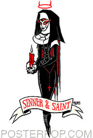 Pigors Sinner Saint Sticker Image