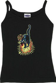 Vince Ray 13 Cat Woman's Baby Doll Tee and Boy Beater Tank