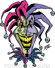 Pizz Joker Clown Sticker Image