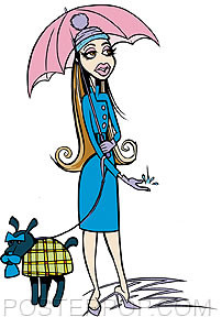 Pizz Rain Girl Sticker Image