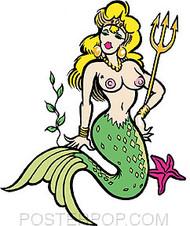 Pizz Mermaid Sticker Image