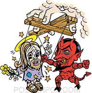 Pizz Gods Puppets Sticker Image