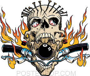 Pizz Hellraiser Sticker Image
