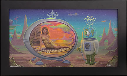 Aaron Marshall Time Machine Fine Giclee Art Print on Canvas
