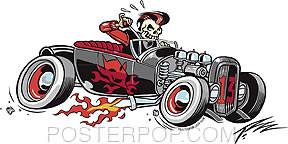 Pizz Devil Rod Sticker Image