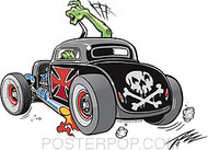 Pizz Skull Rod Sticker Image