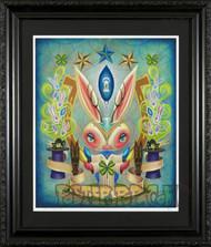 Aaron Marshall Magic Bunny Fine Art Print on Velvet Fine Art Paper Framed, Image