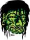 Kruse Shrunken Head Sticker Image