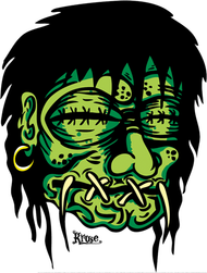 Kruse Shrunken Head Sticker Image