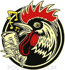 Kruse Rockabilly Rooster Sticker Image