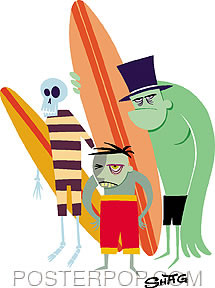Shag Beach Bunch Sticker Image