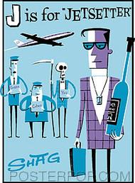 Shag Jetsetter Sticker Image