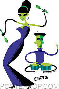 Shag Mariachi Dancer Sticker Image