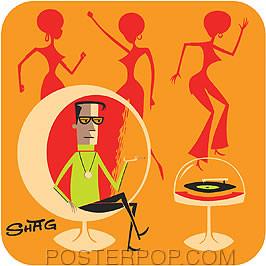 Shag Hi-Fi Lounge Sticker Image