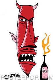 Shag Rum Devil Sticker Image