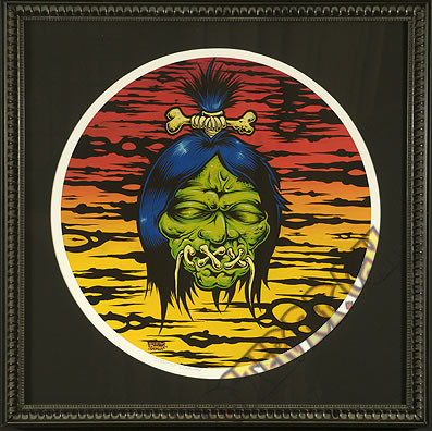 Dirty Donny Shrunken Head Fine Art Print Framed Velvet Fine Art Giclee Signed Image