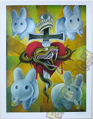 KZG01 Kozik Crown of Bunnies 2008 Fine Art Print Signed Numbered Ed