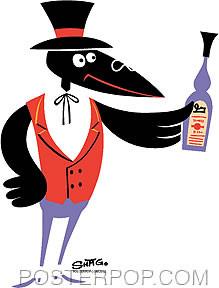 Shag Drinking Crow Sticker Image