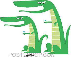Shag Mocking Gators Sticker Image