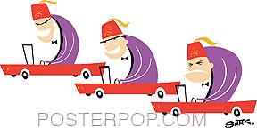 Shag Shriner Race Sticker Image